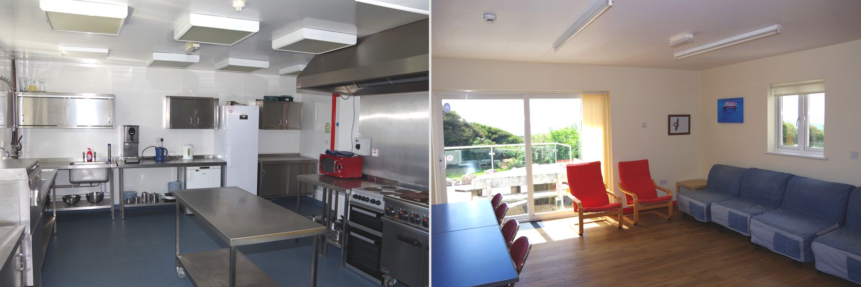 Large kitchen ideal for group self catering accommodation